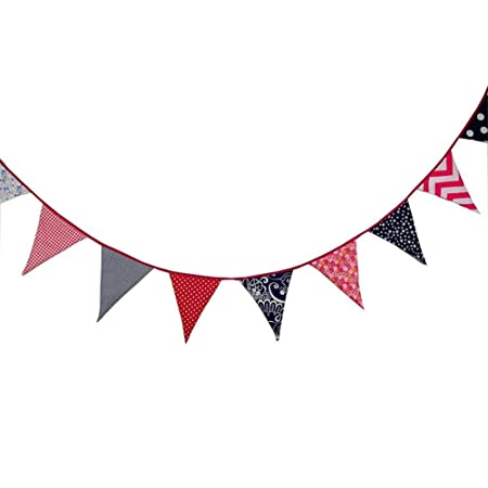 Fiesta Bunting Bandera Triangular Cadena De Banner Tela ...