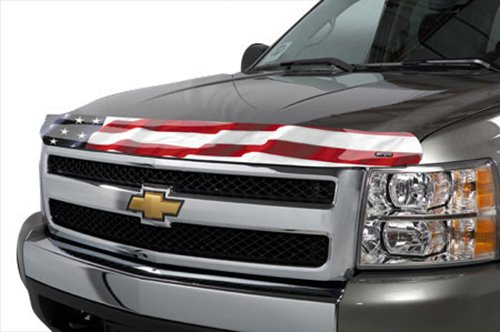 Stampede 2149-41 Vigilante Premium Series Hood Protector with 'American Flag No Eagle' Pattern
