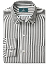 Men's Classic Fit Gingham & Stripe Non-Iron Dress Shirt