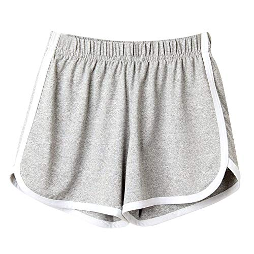 POQOQ Pants Fashion Women Lady Summer Sport Shorts Beach Short M Gray