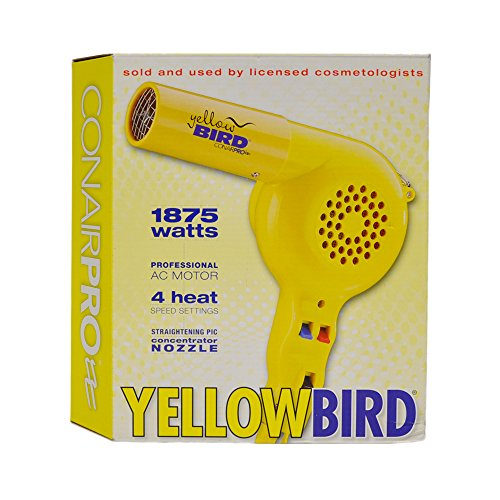 Conair Pro Yellow Bird Hair Dryer Model YB075W