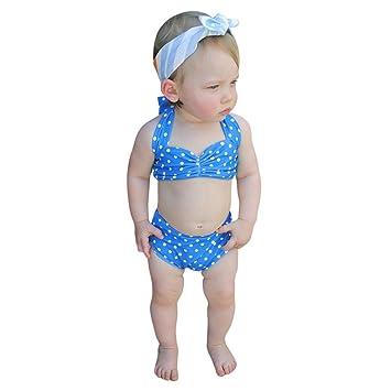 Conjunto de Ropa bebé Bañador bebé niñas de verano Traje de baño de punto Correas para