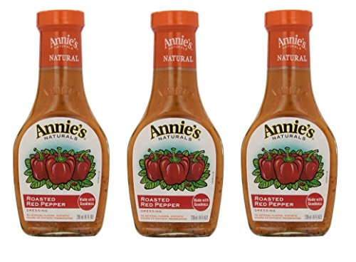 Annie`s Natural Dressing ,Roasted Red Pepper ,8 Fl oz, (Pack of 3) (Pepper Salad)