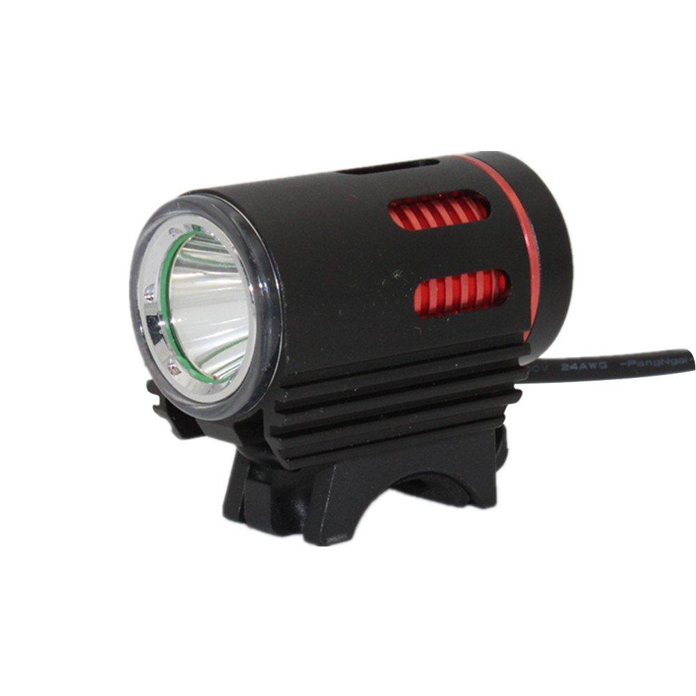 USB ricaricabile Bike Lights, KC Fire 900lumen super Bright bicicletta luci, IP65impermeabile, senza installazione, faro della bici per campeggio, escursionismo e più sicuro ciclismo di notte, Black & Red IP65impermeabile