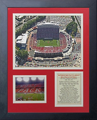 Legends Never Die ''North Carolina State Wolfpack Carter-Finley Stadium'' Framed Photo Collage, 11 x 14-Inch by Legends Never Die