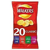 british potato crisps - Walkers Crisps Variety Pack 20 Bags