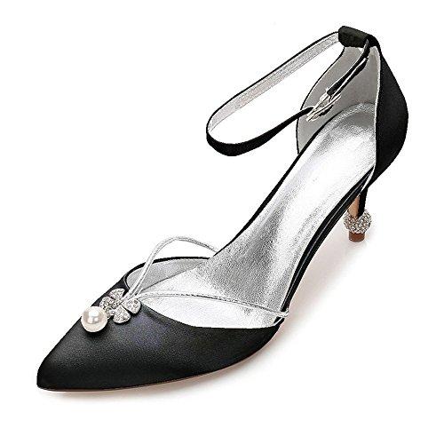 Schuhe Prom Klassische Braut auf Pumpe Womens Abend Zehe Zxstz Slip Party Heels naher Hochzeit Schuhe HFAwW6q