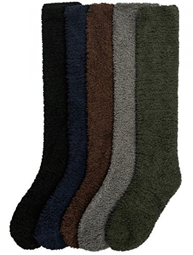 - Ladies Colorful Fleece Knee High Socks Assorted 6 Pack (9-11(One Size), D-Solid)