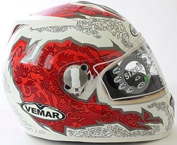 VEMAR casco Full Face ALKON VTX EVO rojo-blanco tamano : L