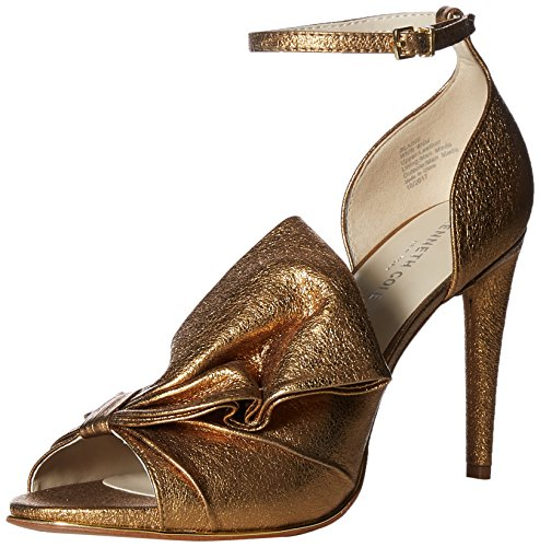 Kenneth Cole New York Women's Blaine Oversize Bow Stilleto Dress Sandal Heeled, Gold, 8 M US ()