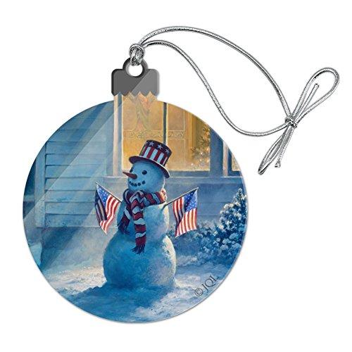 GRAPHICS & MORE Patriotic Snowman American Flag Christmas Acrylic Christmas Tree Holiday Ornament