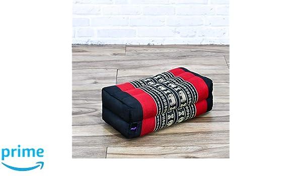 Leewadee Bloque De Yoga Juego de 2 Piezas Almohada Pilates Ladrillo Yoga Coj/ín De Meditaci/ón Org/ánico Naturalmente Ecol/ógico Capok 35x18x12 cm