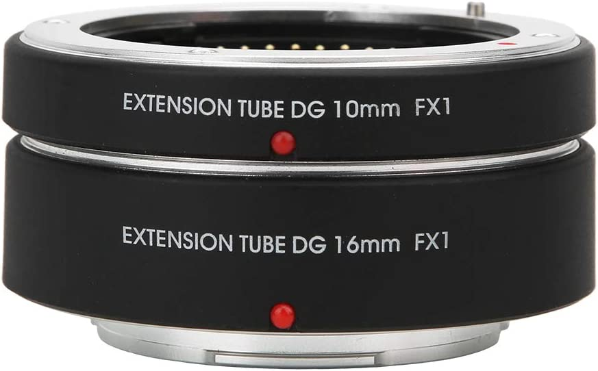 16mm for FX Mount Camera FX1 Auto Focus Lens Adapter 10mm Macro Lens Extension Adapter Ring for Fujifilm FX Mount Camera X-Pro2 X-A3 A3 A5 A20 T1 T10