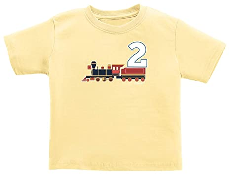 Train Theme Infant Shirt Clothes 2nd Birthday Gifts T