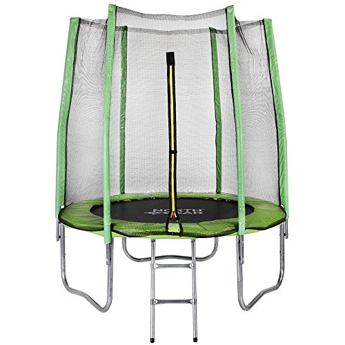 North-Gear-6-Foot-Trampoline-Set-with-Safety-Enclosure-and-Ladder