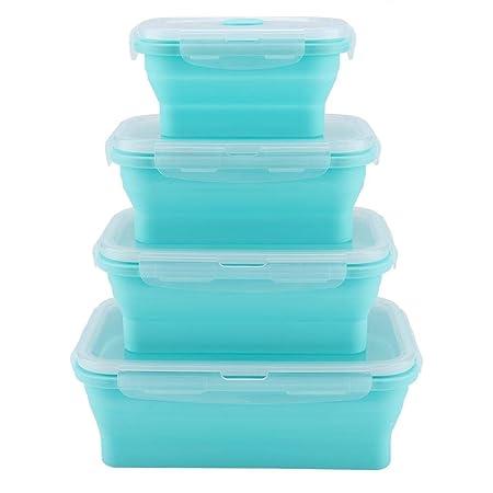 Recipientes de almacenamiento de alimentos de silicona plegables ...