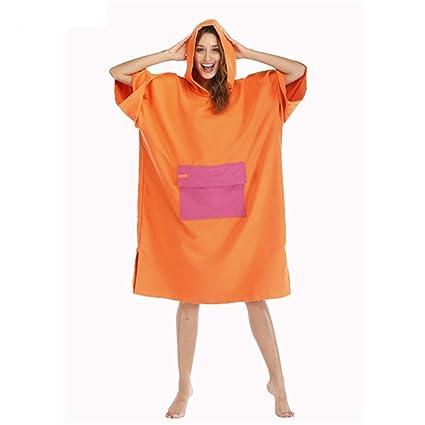 Traje de cambio de toalla Poncho Capucha del poncho de la toalla de las batas de ...