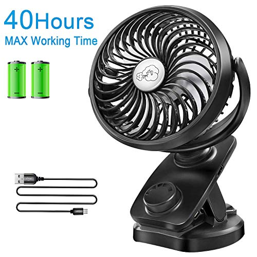 Clip on Stroller Fan Battery Operated