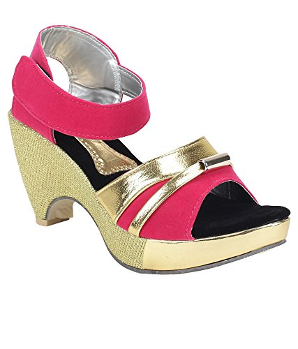 5a5cba40da9b82 Royal Indian Exposures Fancy Party Wear Wedges Heels for Women  Buy Online  at Low Prices in India - Amazon.in