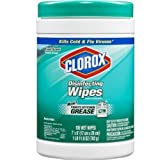 Case of four 105-count canisters, (total of 420 wipes) - Clorox Disinfecting Wipes, Fresh Scent