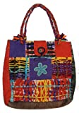 116 BG Patchwork Cotton Short handle Bohemian Gypsy Tote Bag