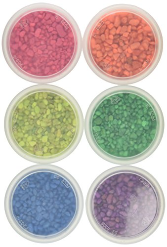 Hygloss Products Aquarium Gravel - Arts and Crafts, 6 oz. each of 6 Neon Assortment Colors by Hygloss Products, Inc