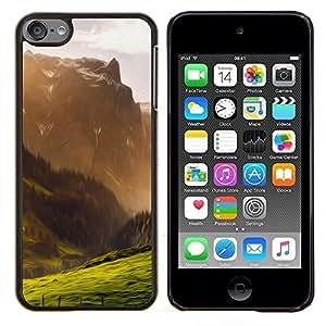 Caucho caso de Shell duro de la cubierta de accesorios de protección BY RAYDREAMMM - Apple iPod Touch 6 6th Touch6 - Ilustración de la montaña