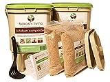 2 bin Bokashi Composting Starter Kit (includes 2 bokashi bins, 3.5lbs of bokashi bran and full instructions)