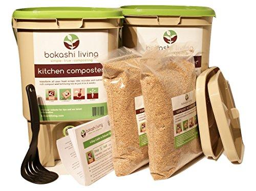 2-bin-Bokashi-Composting-Starter-Kit-includes-2-bokashi-bins-35lbs-of-bokashi-bran-and-full-instructions