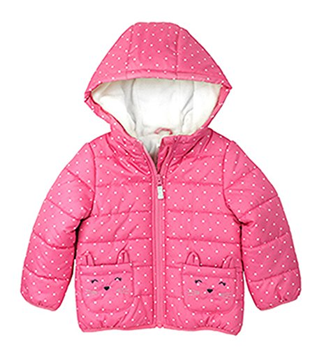 877f1bdcc Galleon - Carter s Girls  Toddler Fleece Lined Critter Puffer Jacket ...
