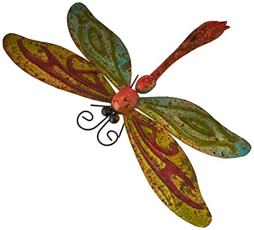 Very Cool Stuff MRMD21 Rusted Metal Dragonfly Wall Art, 20""