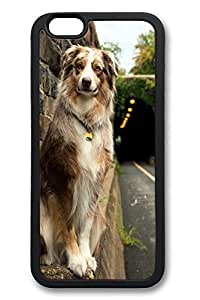 iP6 Plus Case, iPhone 6 Plus Case - Friendly Dog Waiting For New Release Protective Black Soft Rubber Bumper for iPhone 6 Plus Case [Shock-Dispersion] [Slim Fit] Bumper for iPhone 6 Plus Cases