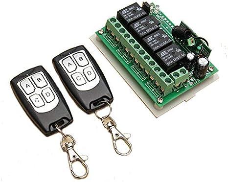 Fernbedienung Schalter mit Empfänger Set DC 12V//24V//36//48V//72V Funkfernschalter