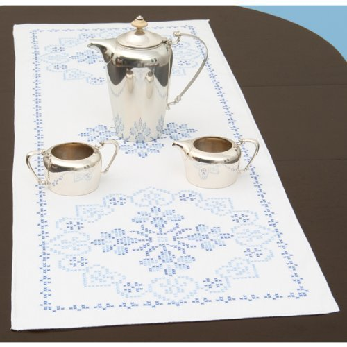 Jack Dempsey 487652 Stamped Table Runner-Scarf 15 in. x 42 in. -XXX Americana by Jack ()