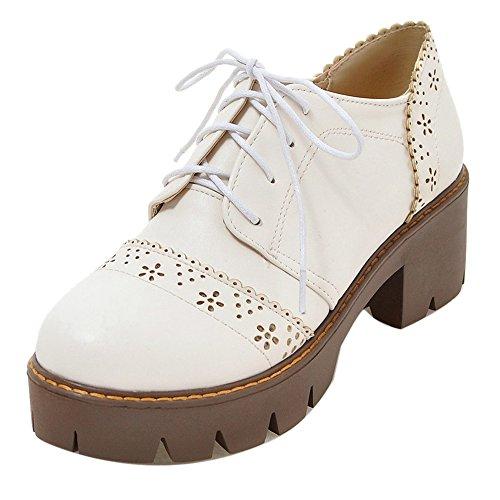 Les Femmes Coolcept Confort Chaussures Gros Morceaux De La Cour Lacer Blanc