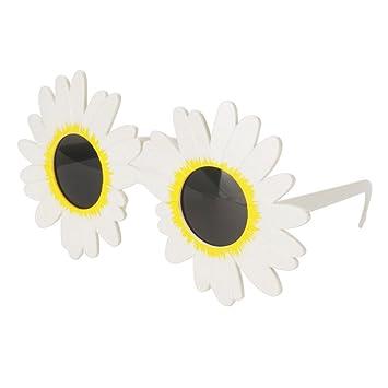 Amosfun Gafas de Sol de la Flor de la Margarita Blanca Gafas ...