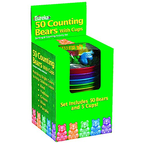EUREKA COUNTING BEAR CUPS 50 CT BEARS 5 (Set of 12) by Eureka