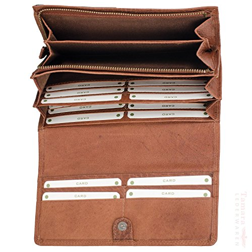 Branco BUFF-MILLED 70416 Leder Damengeldbörse 19x10x3cm Natur MKlxGr0