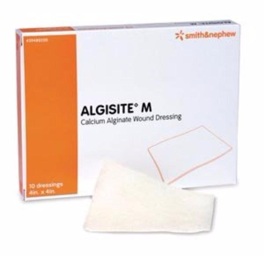 Smith & Nephew Calcium Alginate Dressing AlgiSite M 4 X 4'' Square Calcium Alginate Sterile (#59480200, Sold Per Pack)