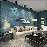 QIHANG Modern Minimalist Curve Tree Patterns Non-woven Wallpaper Roll Blue&gray Color 0.53m (1.73') x 10m(32.8')=5.3㎡(57 sq.ft)