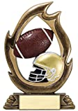 Decade Awards Football Flame Series Trophy/Burning Football Award/Football Trophy | 7.25 Inch