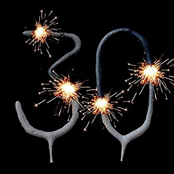 Geburtstagsfee 30th Birthday Cake Decoration Sparklers Set
