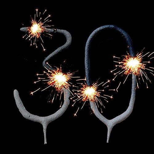 Wunderkerzen-Set für Tortendeko Zum 30. Geburtstag, Geburtstagskuchen-Dekoration geburtstagsfee