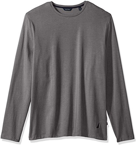 Nautica Men's Long Sleeve Solid Crew Neck Shirt