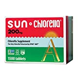 Sun Chlorella - Chlorella Superfood Nutritional Supplement - 200 Mg (1500 Tablets)