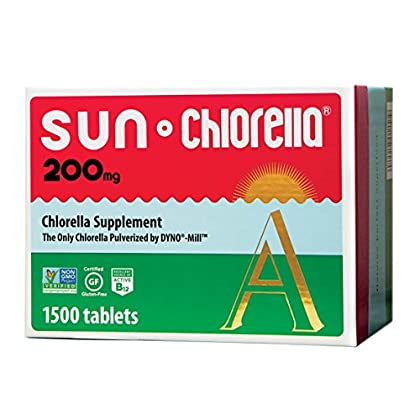 Image of Sun Chlorella - Chlorella Superfood Nutritional Supplement- 500 Mg (200 Mg - 1500 Tablets) Health and Household
