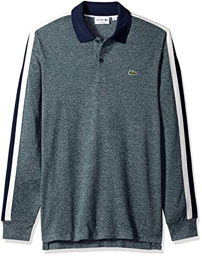 50ea6d1b202a Lacoste Men s Long Sleeve Reg Fit Made in France Pique Polo at Amazon Men s  Clothing store