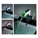 LightInTheBox Single Handle Waterfall Bathroom Vanity Sink LED Faucet, Chrome Picture