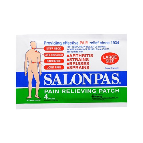 SALONPAS Large Pain Relief Patches - 4 Patches
