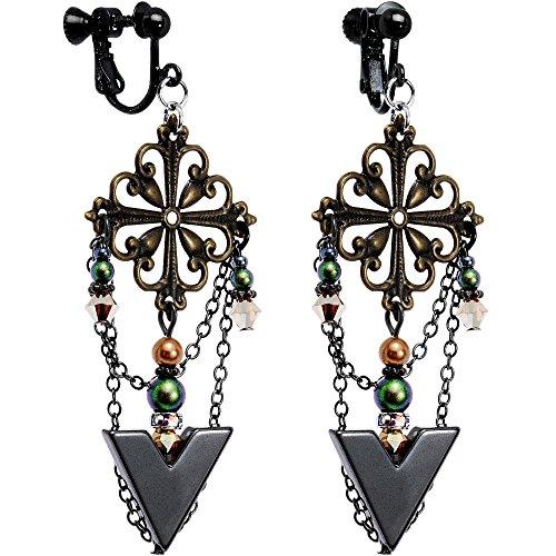 Body Candy Handcrafted Rustic Arrowhead Clip On Earrings Created with Swarovski Crystals (Earrings Crystal Arrowhead)